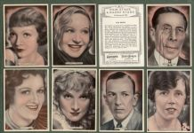 cigarette cards Film, Stage & Radio Stars 1935, Noel Coward,Greta Garbo